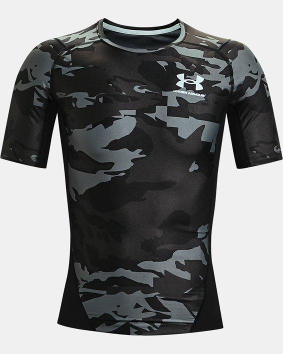 Men's UA Iso-Chill Compression Printed Short Sleeve, Black, pdpMainDesktop image number 4