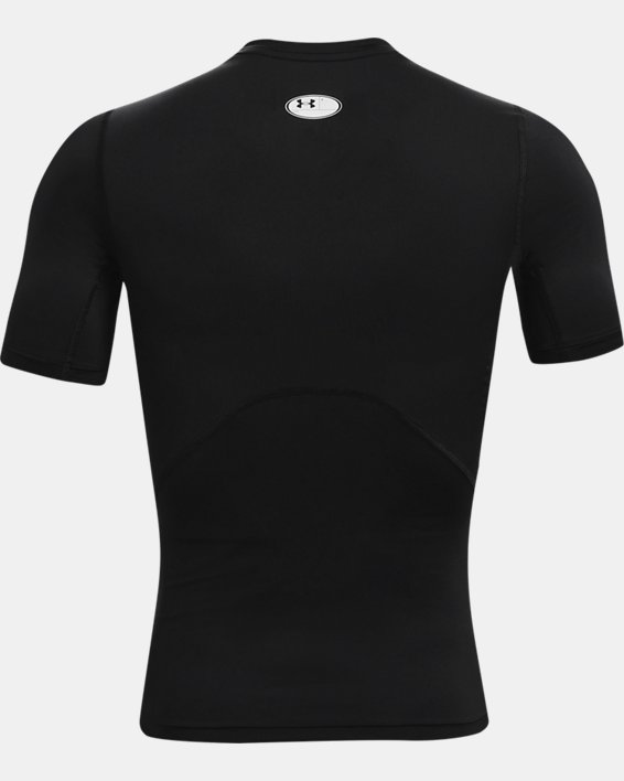 Men's HeatGear® Armour Short Sleeve, Black, pdpMainDesktop image number 4