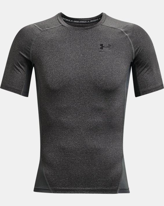 Men's HeatGear® Armour Short Sleeve, Gray, pdpMainDesktop image number 4