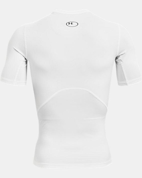 Men's HeatGear® Armour Short Sleeve, White, pdpMainDesktop image number 4