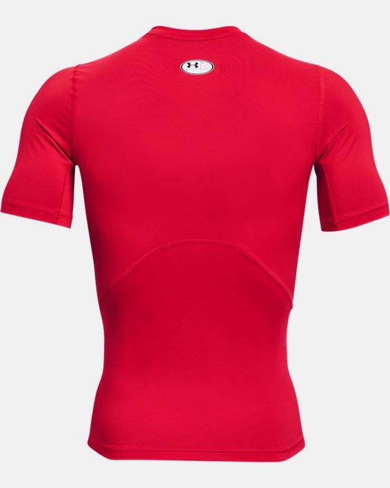 Men's HeatGear® Armour Short Sleeve, Red, pdpMainDesktop image number 5