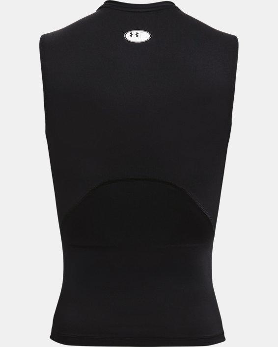 Maglia senza maniche HeatGear® Armour da uomo, Black, pdpMainDesktop image number 4