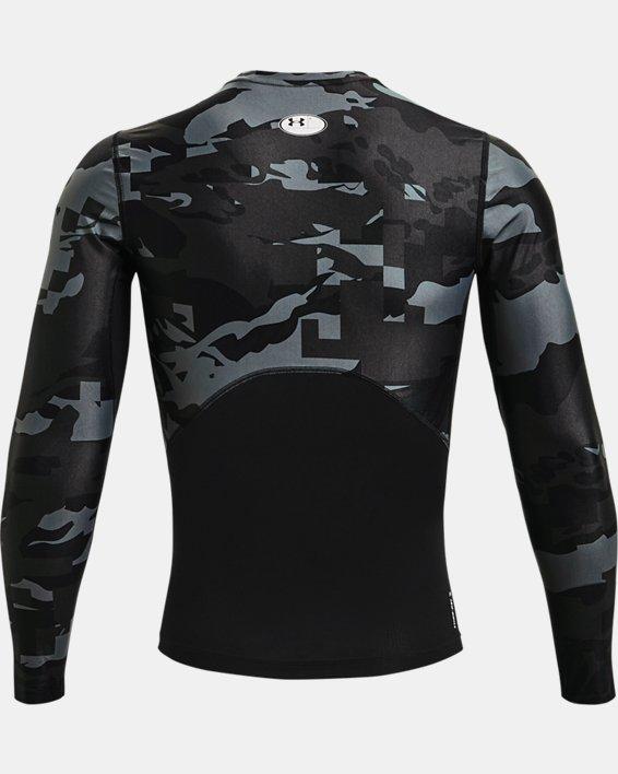 Men's UA Iso-Chill Compression Printed Long Sleeve, Black, pdpMainDesktop image number 5