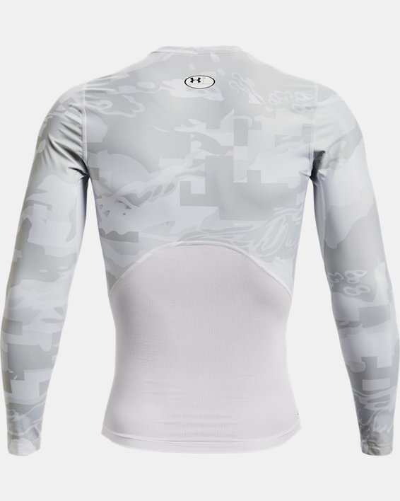 Camiseta de manga larga UA Iso-Chill Compression Printed para hombre, White, pdpMainDesktop image number 5