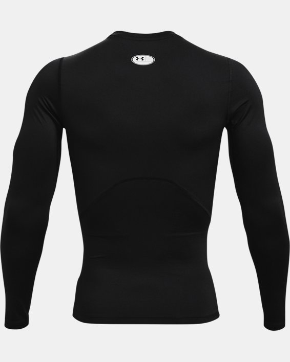 Herren HeatGear® Armour Langarm-Oberteil, Black, pdpMainDesktop image number 4