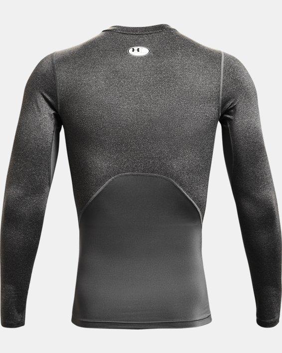 Men's HeatGear® Armour Long Sleeve, Gray, pdpMainDesktop image number 4