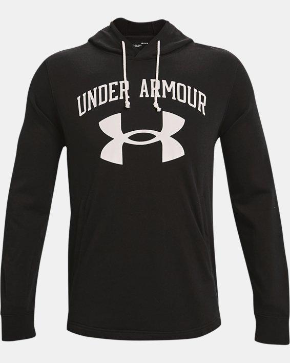Men's UA Rival Terry Big Logo Hoodie, Black, pdpMainDesktop image number 3