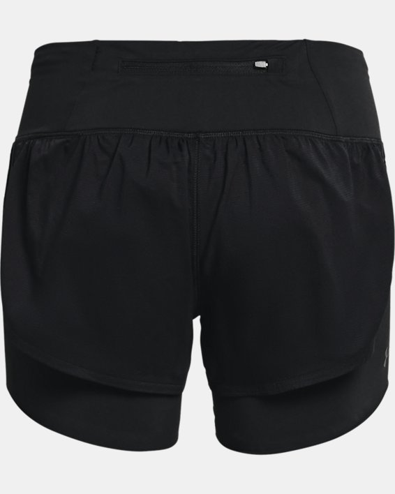 Women's UA RUSH™ Run 2-in-1 Shorts, Black, pdpMainDesktop image number 5