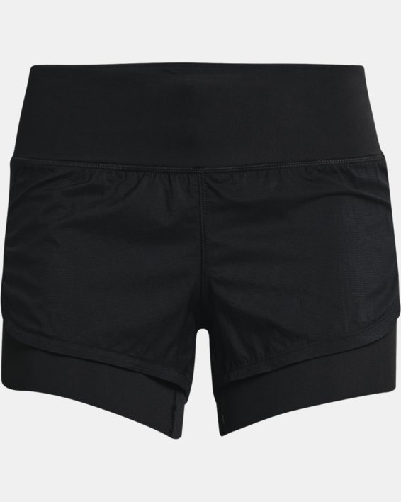 Women's UA RUSH™ Run 2-in-1 Shorts, Black, pdpMainDesktop image number 4