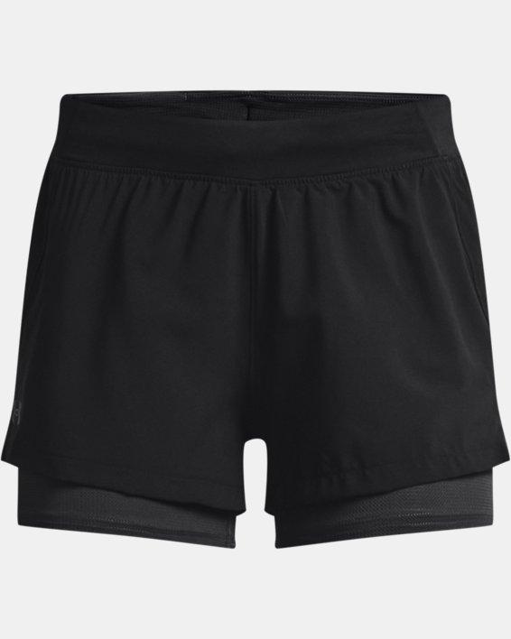 Women's UA Iso-Chill Run 2-in-1 Shorts, Black, pdpMainDesktop image number 3