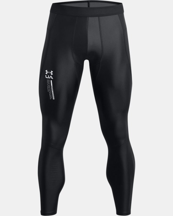 Leggings UA Iso-Chill Perforated para hombre, Black, pdpMainDesktop image number 4