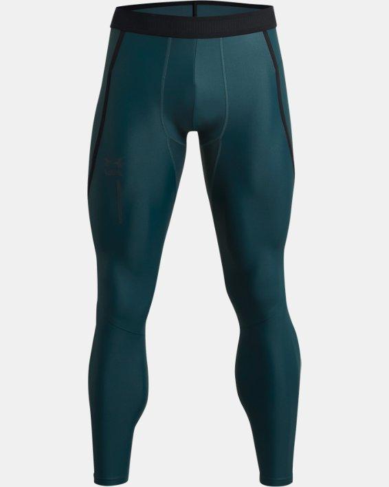 Men's UA Iso-Chill Perforated Leggings, Blue, pdpMainDesktop image number 4