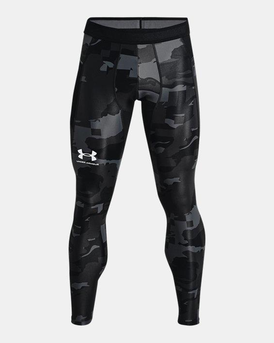 Men's UA Iso-Chill Printed Leggings, Black, pdpMainDesktop image number 4