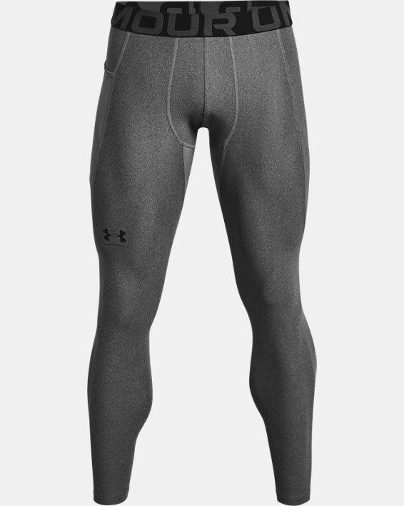 Men's HeatGear® Armour Leggings, Gray, pdpMainDesktop image number 4