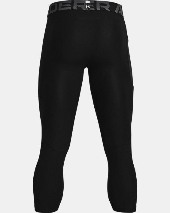 Men's HeatGear® Armour ¾ Leggings, Black, pdpMainDesktop image number 5