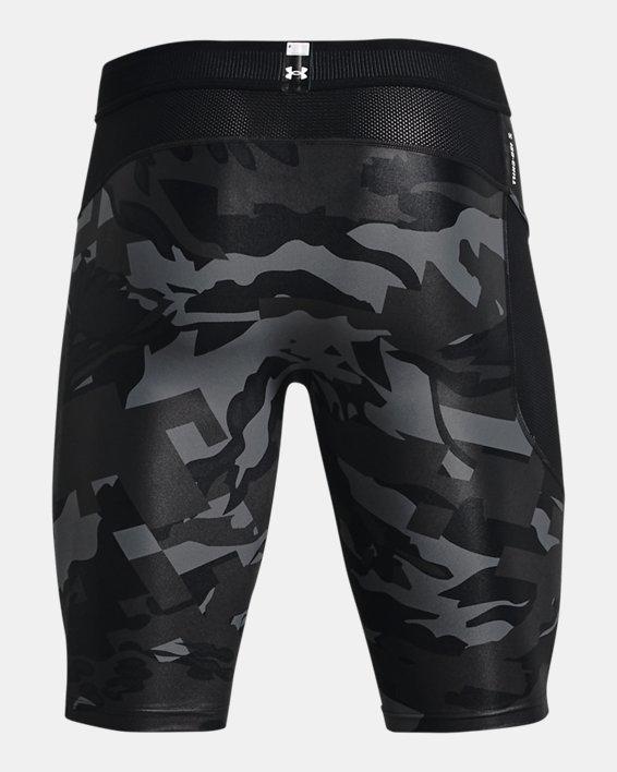 Men's UA Iso-Chill Compression Print Long Shorts, Black, pdpMainDesktop image number 5