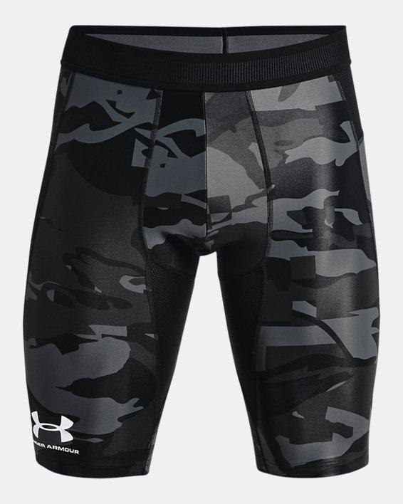Men's UA Iso-Chill Compression Print Long Shorts, Black, pdpMainDesktop image number 4