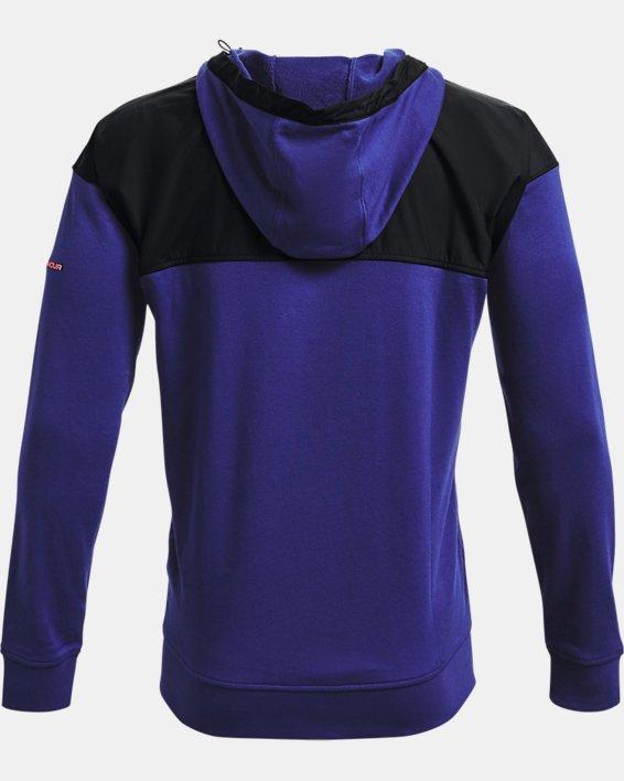 Men's UA Rival Terry AMP Full Zip Hoodie, Blue, pdpMainDesktop image number 5