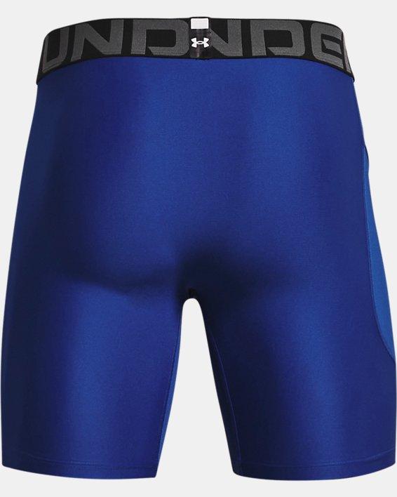 Men's HeatGear® Armour Compression Shorts, Blue, pdpMainDesktop image number 5
