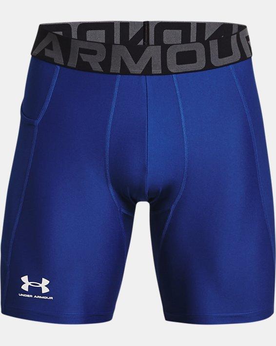 Men's HeatGear® Armour Compression Shorts, Blue, pdpMainDesktop image number 4