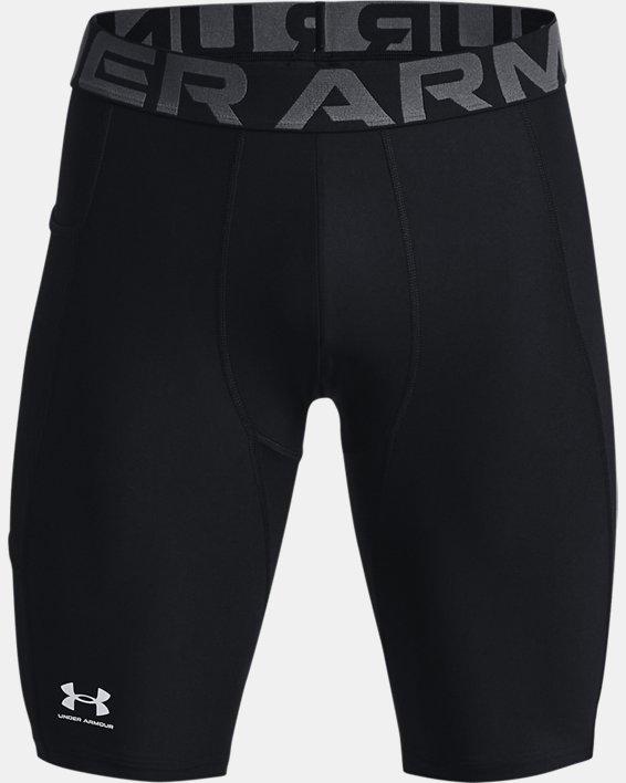 Men's HeatGear® Pocket Long Shorts, Black, pdpMainDesktop image number 5
