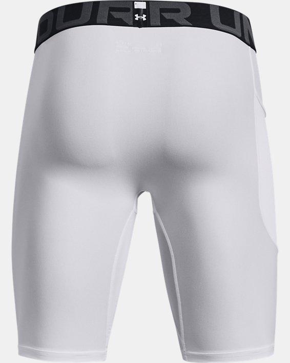 Men's HeatGear® Pocket Long Shorts, White, pdpMainDesktop image number 5