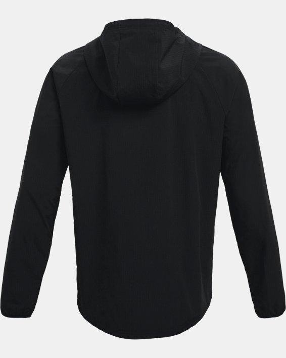 Men's UA Woven Windbreaker Jacket, Black, pdpMainDesktop image number 6