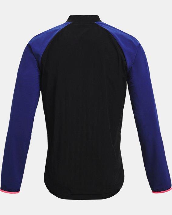 Men's UA Stretch Woven Bomber Jacket, Black, pdpMainDesktop image number 5