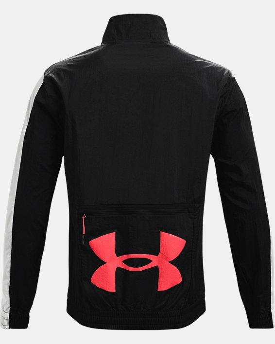 Men's UA Woven Track Jacket, Black, pdpMainDesktop image number 5