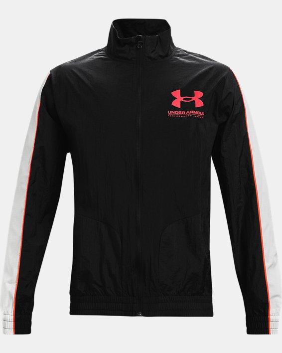 Men's UA Woven Track Jacket, Black, pdpMainDesktop image number 4