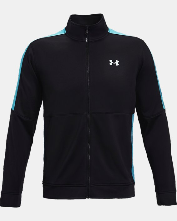 Men's UA Sportstyle Graphic Track Jacket, Black, pdpMainDesktop image number 3