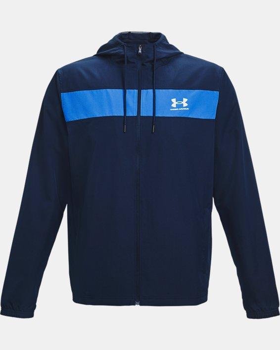 Men's UA Sportstyle Windbreaker Jacket, Navy, pdpMainDesktop image number 4