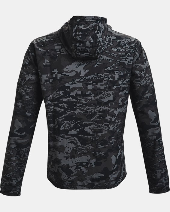 Men's UA Sportstyle Camo Windbreaker Jacket, Black, pdpMainDesktop image number 4