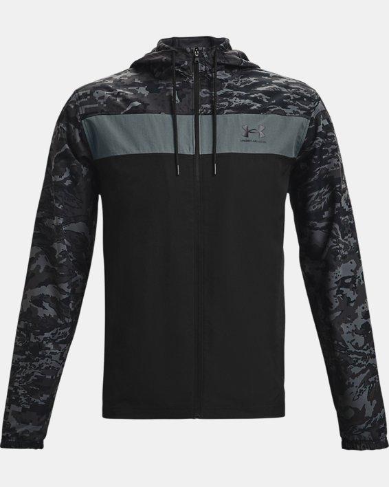 Men's UA Sportstyle Camo Windbreaker Jacket, Black, pdpMainDesktop image number 3