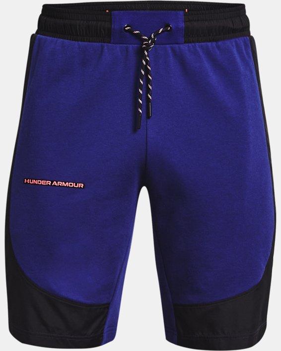 Men's UA Rival Terry AMP Shorts, Blue, pdpMainDesktop image number 4