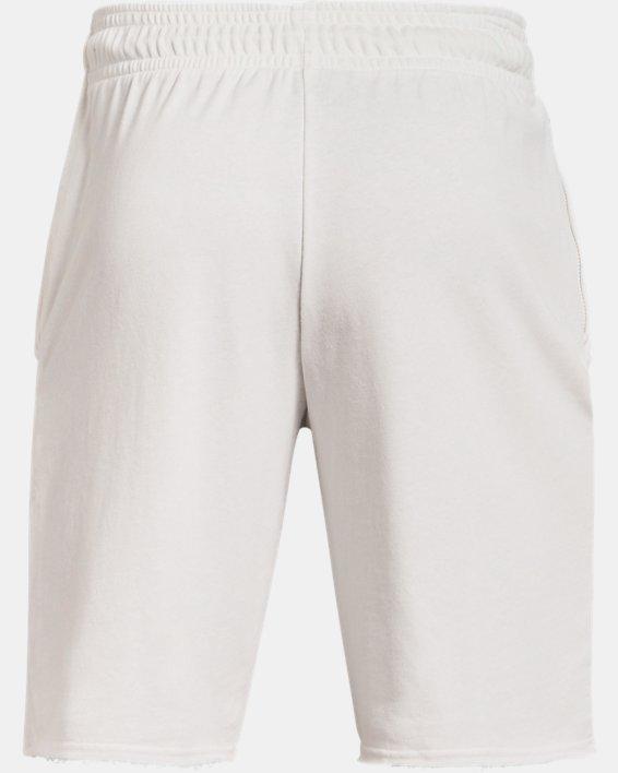 Men's UA Rival Terry Collegiate Shorts, White, pdpMainDesktop image number 5
