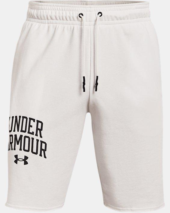 Men's UA Rival Terry Collegiate Shorts, White, pdpMainDesktop image number 4