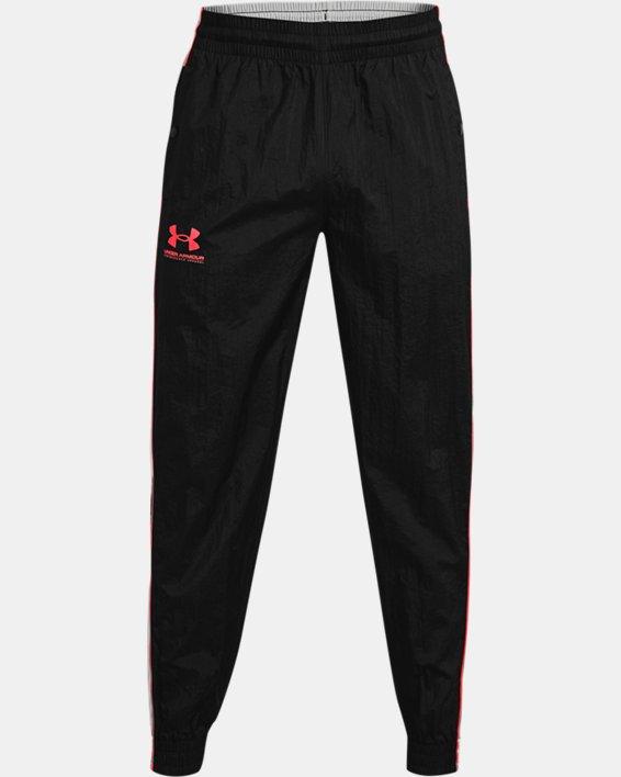 Men's UA Woven Track Pants, Black, pdpMainDesktop image number 4