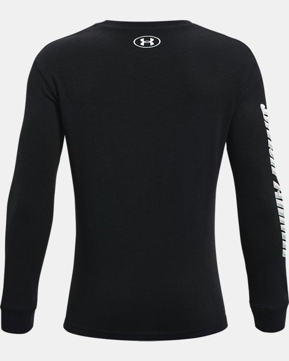 Boys' UA Swish Long Sleeve, Black, pdpMainDesktop image number 1