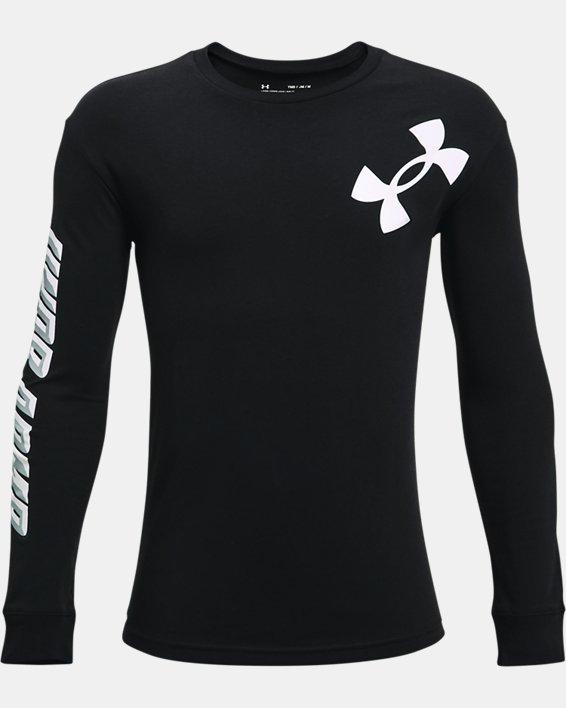 Boys' UA Swish Long Sleeve, Black, pdpMainDesktop image number 0