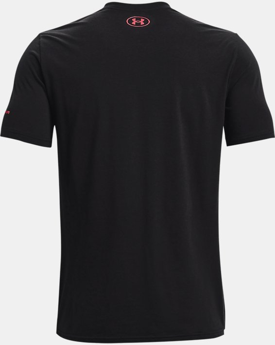 Men's UA Vertical Wordmark Short Sleeve, Black, pdpMainDesktop image number 5