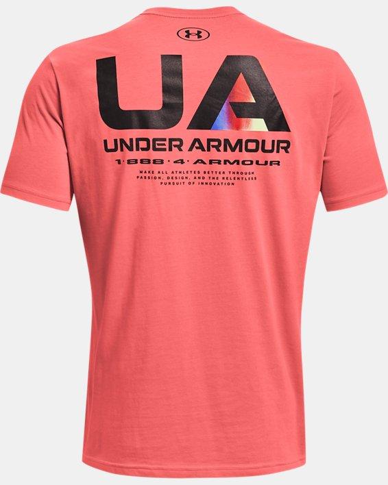 Men's UA Lockertag Short Sleeve, Red, pdpMainDesktop image number 5