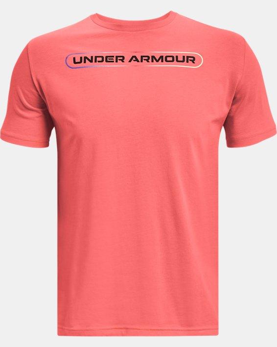 Men's UA Lockertag Short Sleeve, Red, pdpMainDesktop image number 4
