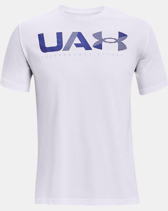 Men's UA Performance Apparel Short Sleeve, White, pdpMainDesktop image number 3