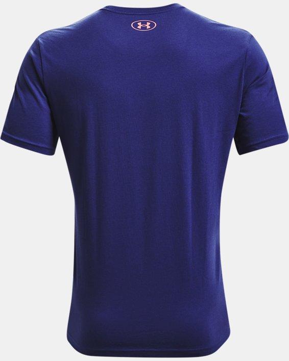 Camiseta de manga corta UA Performance Apparel para hombre, Blue, pdpMainDesktop image number 5