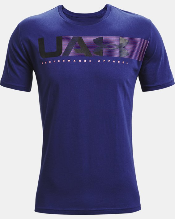 Camiseta de manga corta UA Performance Apparel para hombre, Blue, pdpMainDesktop image number 4