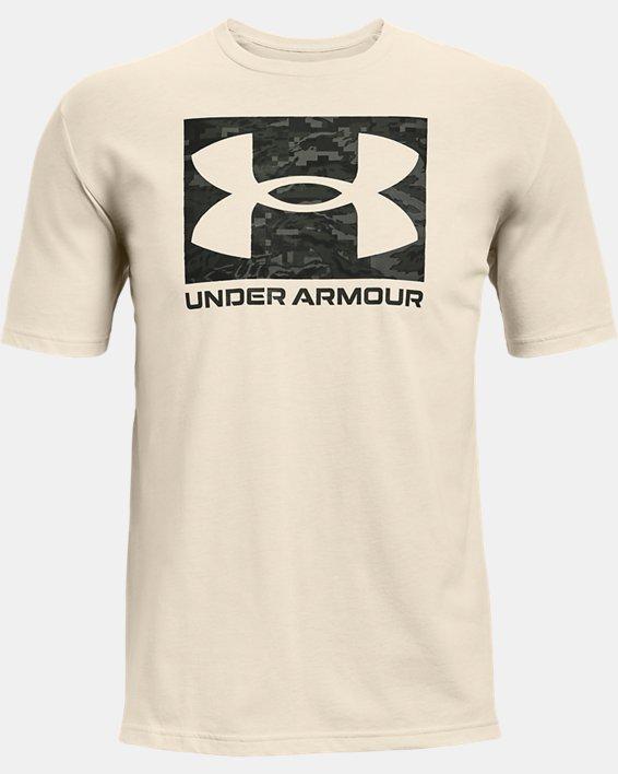 Men's UA ABC Camo Boxed Logo Short Sleeve, White, pdpMainDesktop image number 4