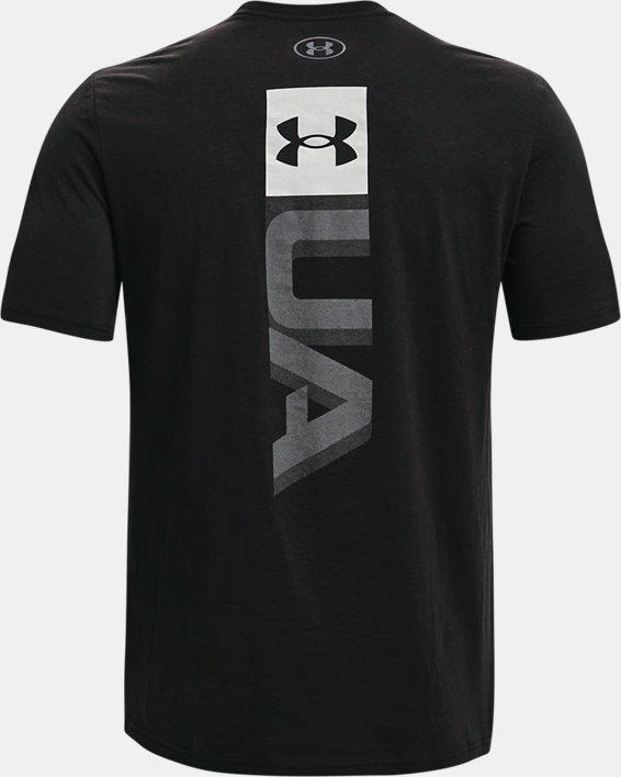 Men's UA Boxed Wordmark Short Sleeve, Black, pdpMainDesktop image number 5
