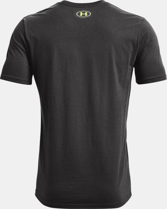 Camiseta de manga corta UA Number Script para hombre, Gray, pdpMainDesktop image number 5