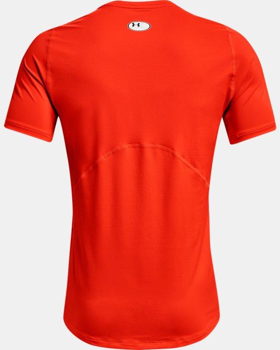 Men's HeatGear® Armour Fitted Short Sleeve, Orange, pdpMainDesktop image number 4